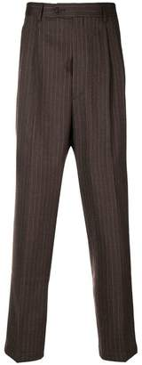 Lc23 pinstripe tapered trousers