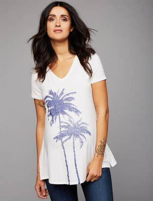 A Pea in the Pod Palm Trees Maternity Tee