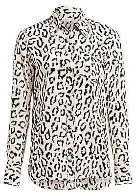 A.L.C. Women's Emerson Leopard Print Silk Blouse