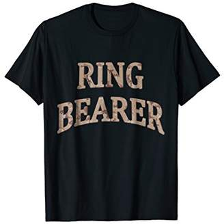 RING BEARER Desert Camo Wedding Tshirt
