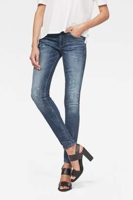 G Star Womens G-Star D-Staq Mid Waist Skinny Jean - Natural