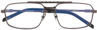 Hublot Eyewear thin oval frame glasses