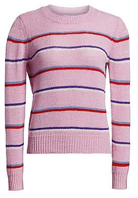 Etoile Isabel Marant Women's Crewneck Striped Ribbed Sweater