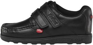 Kickers Junior Boys Fragma Strap Leather Shoes Black