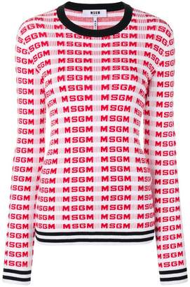 MSGM logo printed sweater