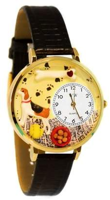 Whimsical Watches Beagle Watch in Gold (Large)