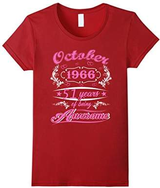 October 1966 - 51th Birthday Gifts Funny Tshirt