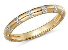 Adina 14K Yellow Gold Pavé Diamond Band Ring