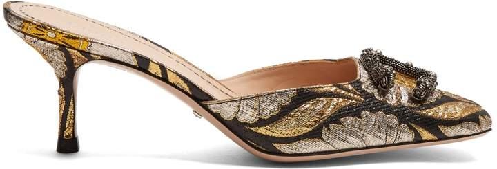 GUCCI Dionysus jacquard kitten-heel pumps