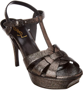 aeb0a7de9a52c3 Saint Laurent Gray Women s Sandals - ShopStyle