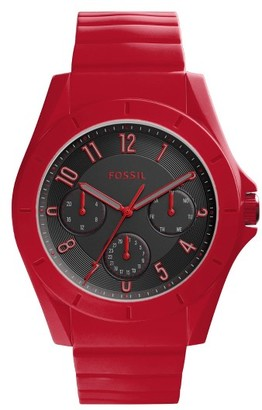 Fossil Poptastic Silicone Strap Watch, 44Mm $95 thestylecure.com