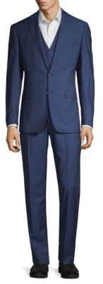 Classic Striped Wool Suit