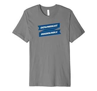 Downright Adorkable adorable dork funny Slim T-shirt