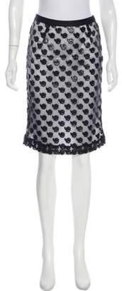 Prabal Gurung Lace Knee-Length Skirt Black Lace Knee-Length Skirt