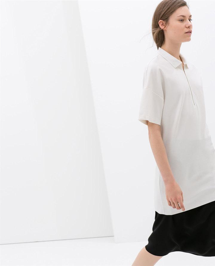 Zara Studio Piqué Dress