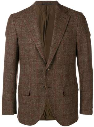 Caruso checked blazer