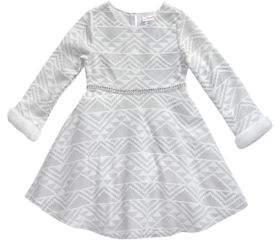 Sweet Heart Rose Sweetheart Rose Baby Girl's Faux Fur Glitter Winter Dress