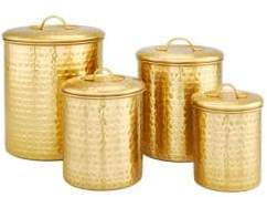 Old Dutch Set of Four Decor Champagne Storage Canister