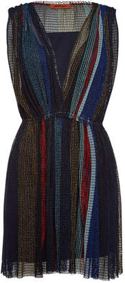 Missoni V-Neck Dress with Metallic Thread