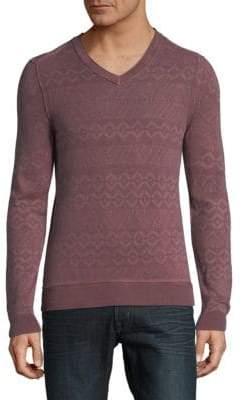 HUGO BOSS Geometric V-Neck Sweatshirt
