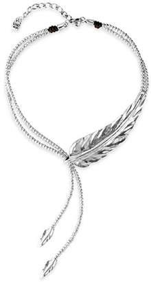 "Uno de 50 Double Strand Feather Necklace, 14"""