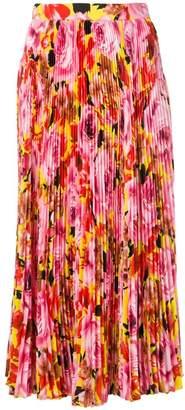 MSGM micro-pleated midi skirt