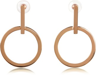 Vita Fede Antonia Rose Gold Tone Hoop Earrings