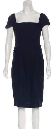 Diane von Furstenberg Square Neck Midi Dress
