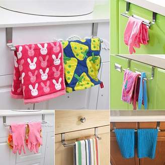 Micelec Multifunctional Door Towel Over Holder Kitchen Drawer Hook Bathroom Scarf Hanger