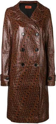 Missoni leather trench coat
