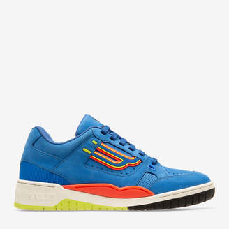 Champion Blue, Men's Calf Leather Sneaker In China Blue