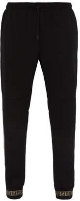 Fendi Ff Taped Cotton Blend Jersey Track Pants - Mens - Black Multi