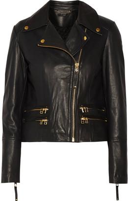 Muubaa Gladiator leather biker jacket $475 thestylecure.com