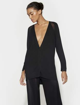 Halston LONG SLEEVE RAGLAN CARDIGAN