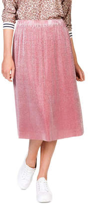 Skin and Threads Metallic Pleat Skirt