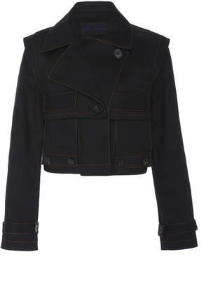 Proenza Schouler Contrast Stitch Stretch Denim Jacket