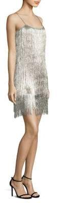 Rachel Zoe Della Metallic Fringed Dress