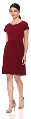 Wild Meadow Women's Tonal Layered Crepe Short Sleeve Shift Dress XS