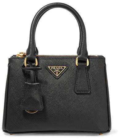 Prada - Galleria Baby Textured-leather Tote - Black