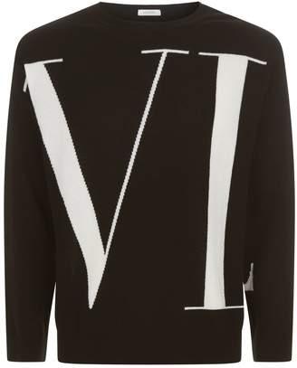 Valentino VLTN Intarsia Wool Sweater