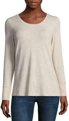 A.N.A Womens Crew Neck Long Sleeve T-Shirt
