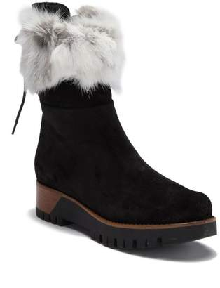 Manas Design FUR Suede Back Lace-Up Boot