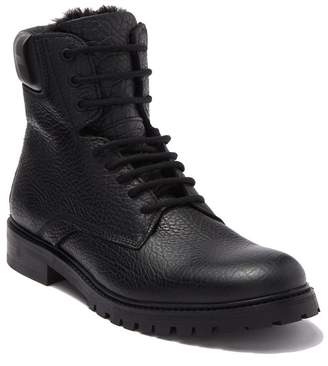 HUGO BOSS Explore Leather Faux Fur Lined Boot