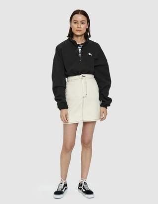 Stussy Jordyn Funnel Neck Sweatshirt in Black