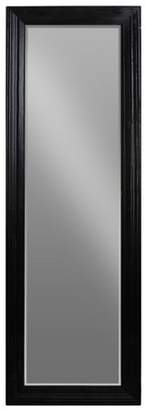 Urban Trends Collection: Wood Leaner Mirror Coated Finish Black