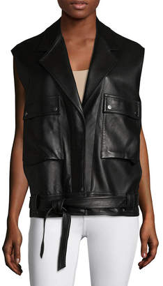Helmut Lang Leather Belted Vest