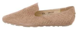 Jimmy Choo Suede Studded Loafers