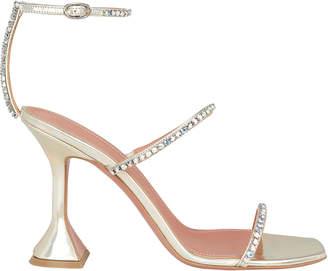 Amina Muaddi Crystal Embellished Gilda Sandals