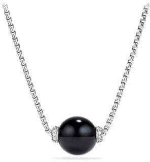 Onyx pendant necklace shopstyle at saks fifth avenue david yurman solari diamond black onyx pendant necklace aloadofball