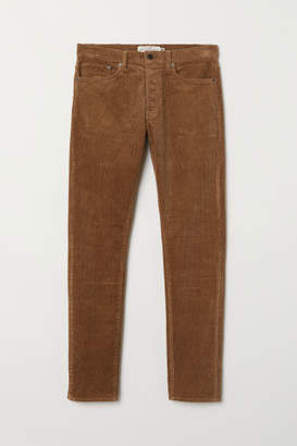 H&M Slim Corduroy Pants - Beige